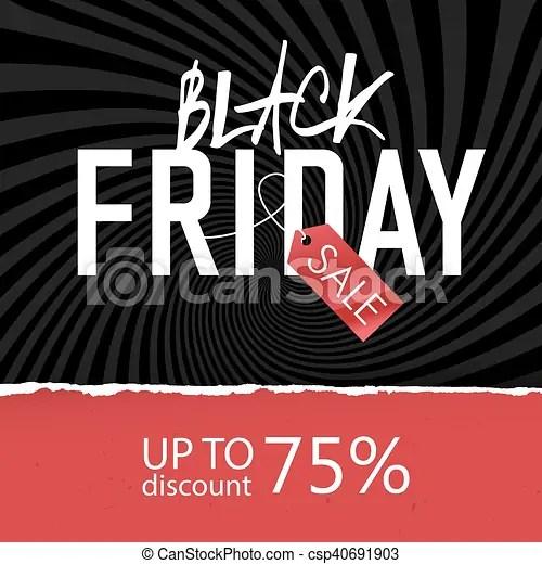 Black friday sale poster design template