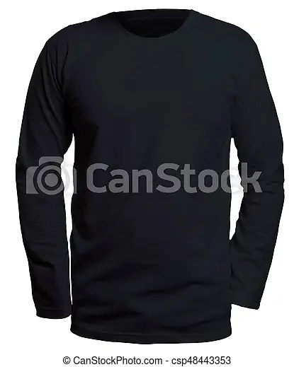 Black long sleeve shirt mock up Blank long sleve shirt mock up