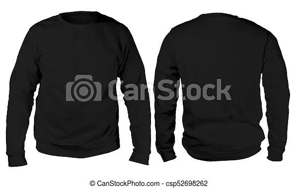 Black sweater long sleeved shirt mockup template Blank sweatshirt