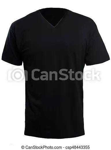 Black v-neck shirt mock up Blank v-neck shirt mock up template