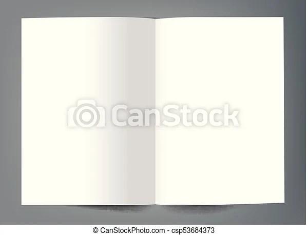 Blank bi fold brochure mockup cover template vectors illustration