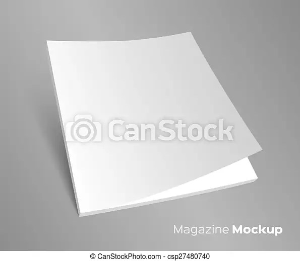Blank brochure cover on gray 3d blank brochure cover realistic