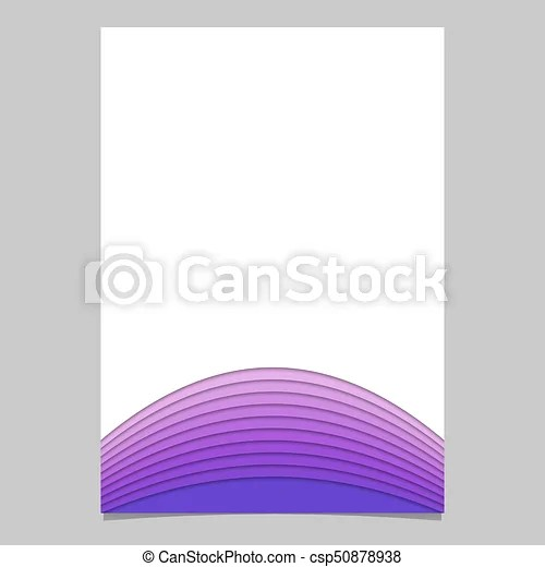 Blank brochure template from layer stripes - vector document graphic
