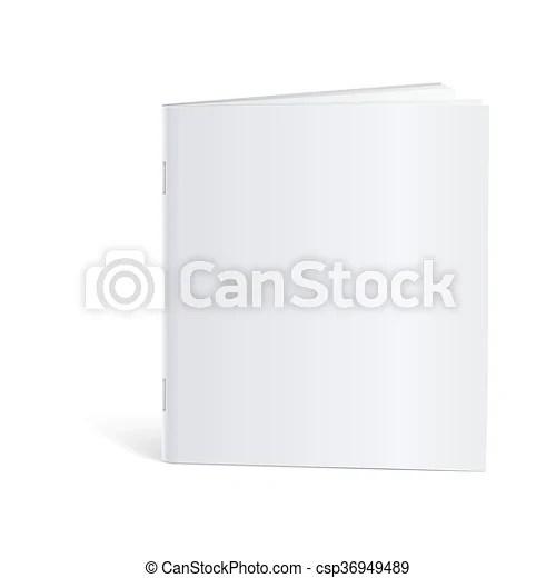 Blank brochure template mock-up Blank brochure magazine isolated on
