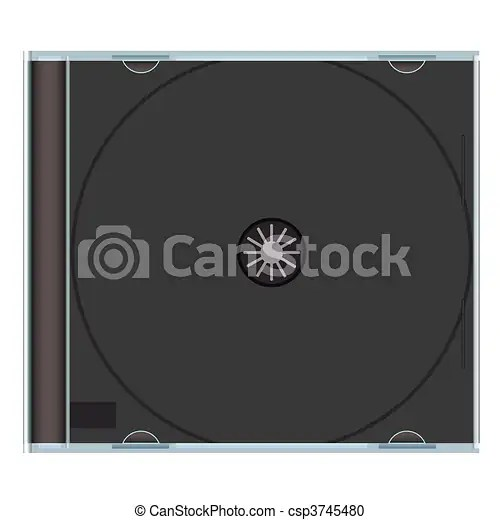 Blank cd case black Clear music cd case with black plastic and