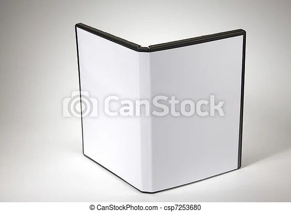 Blank cd case Blank cd cover on the plain background