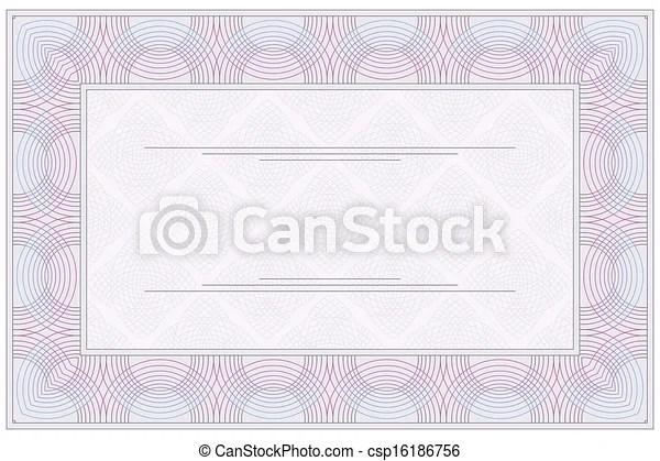 Blank certificate Empty blank of the voucher or clipart vector - blank voucher