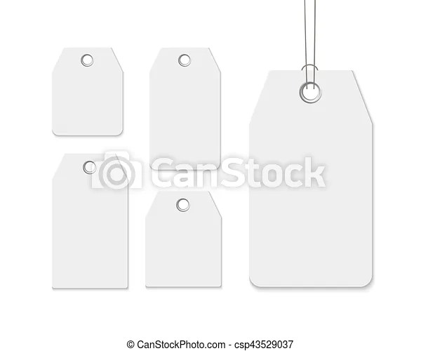 Blank labels template price tags set realistic vector vectors - blank label template