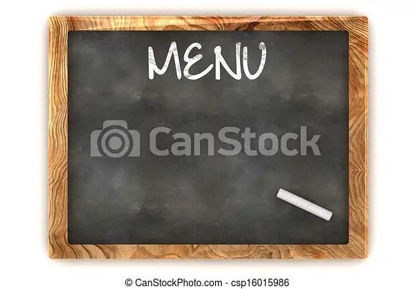 Blank menu illustration A colourful 3d rendered blank menu stock