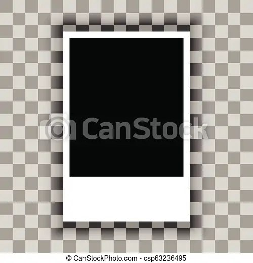 Blank of paper sheet on transparent background vector Blank