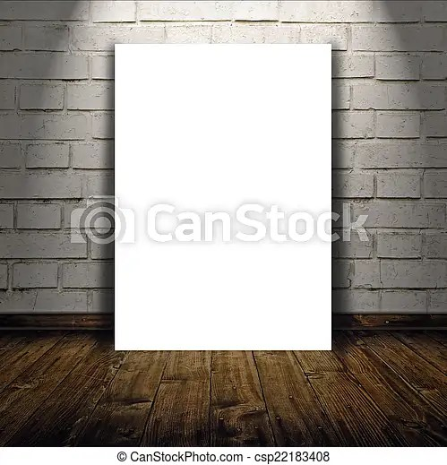 Blank poster as copy space template for your design Blank poster as