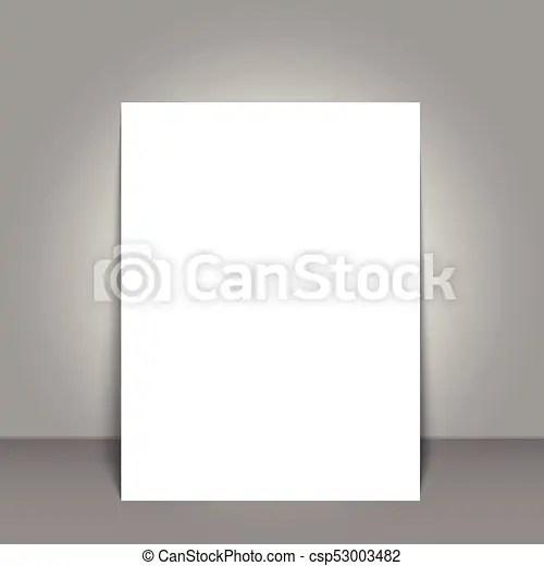 Blank poster bi fold brochure mockup cover template