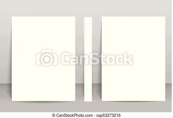 Blank poster bi fold brochure mockup cover template vector clip art