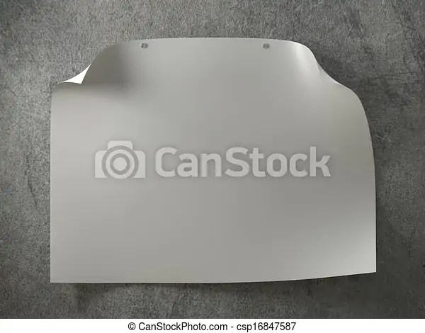 Blank poster on a concrete wall