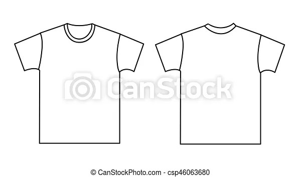 Blank t-shirt template front and back vector - Search Clip Art - t shirt template