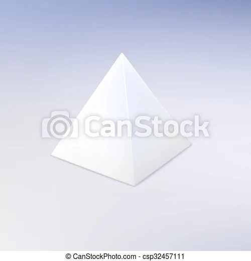 Blank vector white pyramid template for your design vector clip - pyramid template