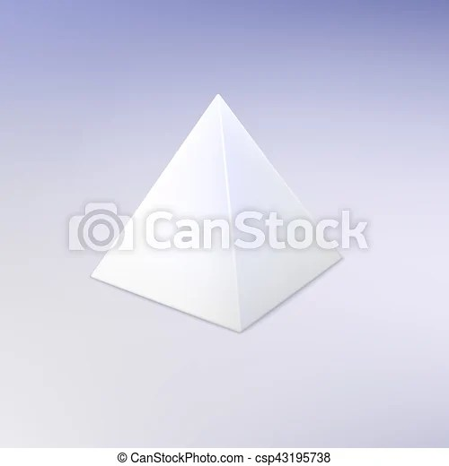 Blank white pyramid template for your design - blank pyramid template