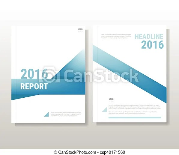 Blue annual report leaflet brochure flyer template a4 size clip