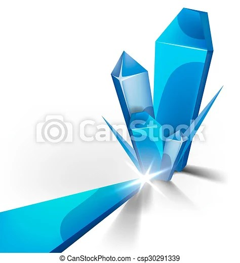 Blue crystal background Abstract form of crystal blue ice