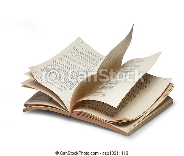 Book open pages riffling Opened book browsing pages riffling - opened book