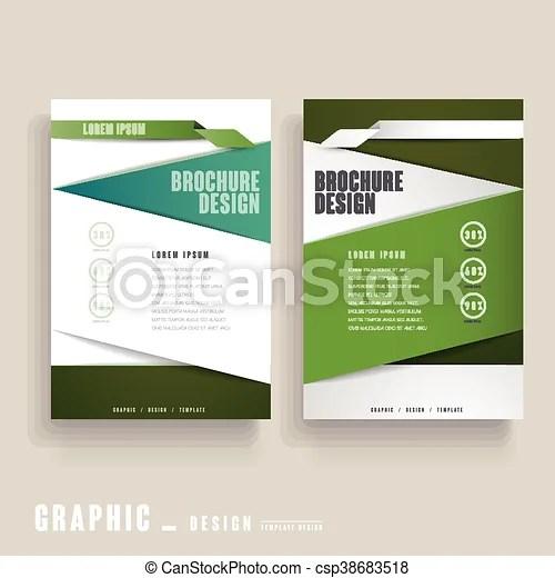Contemporary brochure template design in green and white vector clip - contemporary flyer