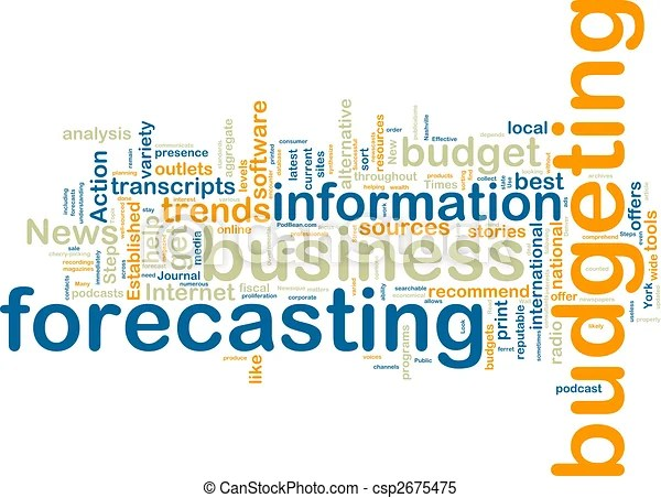 Budgeting wordcloud Word cloud tags concept illustration of