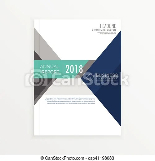 Business brochure template design in geometric shapes, annual report