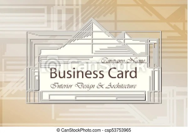 Business card interior design and architecture abstract modern