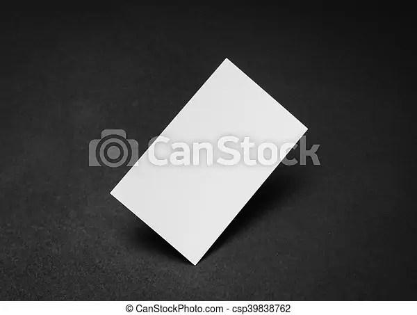 Business cards on black background  Business cards on black
