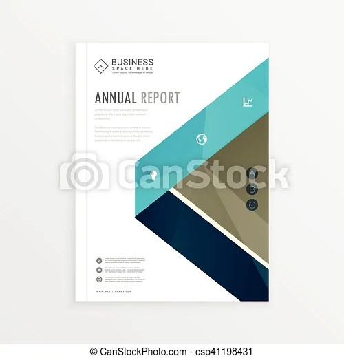 Business identity cover page brochure design with abstract shapes