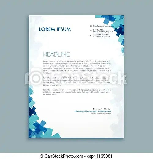 Business style corporate letterhead design vector - Search Clip Art