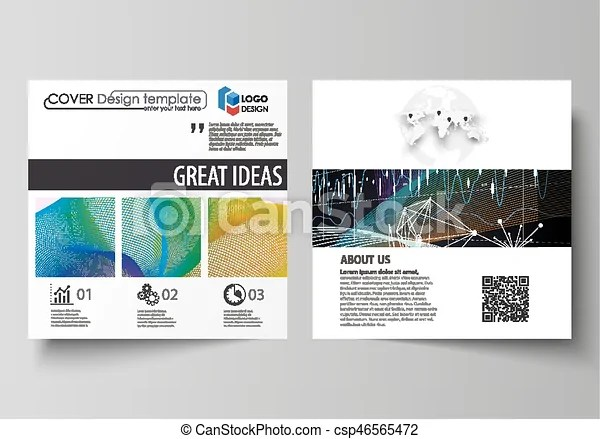 Business templates for square design brochure, flyer, annual report