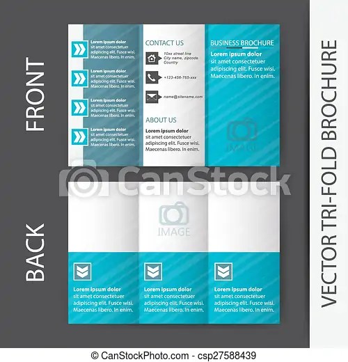Business tri fold flyer template
