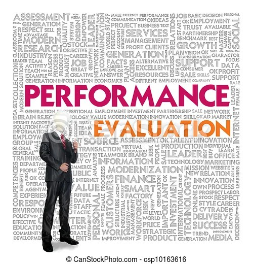 Clipart of Business word cloud for business concept, Performance - performance evaluation