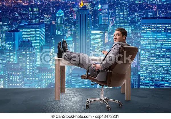 Businessman relaxing in the office