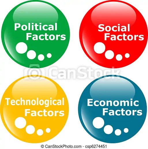 Vector Clip Art of button PEST analysis concept icon - colored web - pest analysis