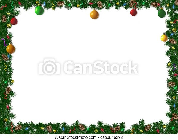 Free Holiday Borders Clipart