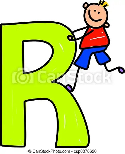 Language Worksheets Color By Letter Homemade Preschool Stock Illustration Of Letter R Boy Happy Little Boy