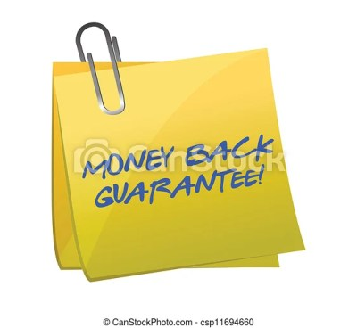 Clip Art Vector of money back guarantee post it illustration design over a... csp11694660 ...