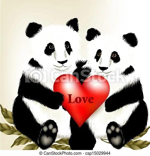 Cute Couple Holding Hand Wallpaper Drawing Of Cute Couple Of Cartoon Panda Bears Holding Big