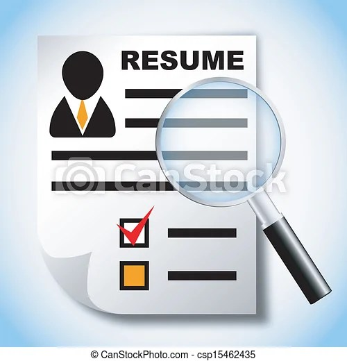 Resume And Job Search Clipart - resume search