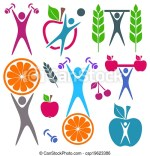 Fitness And Healthy Food Clip Art