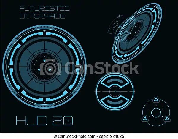 3d Hologram Wallpaper App Vector Illustration Of Futuristic User Interface Hud