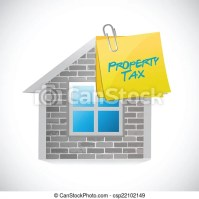 EPS Vector of home property tax concept illustration ...