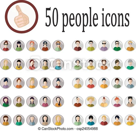 Different Nationalities Countries And Nationalities English Language Youtube Vector Of 50 People Icons Of Various Nationalities In