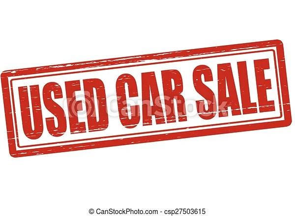 used car sale signs