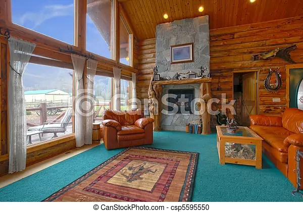 Log cabin Stock Photos and Images 7,032 Log cabin pictures and - log cabin living rooms