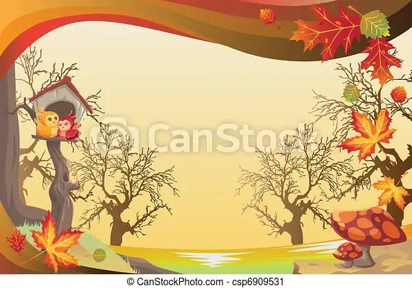 Fall Scarecrow Wallpaper Vector Clip Art Of Autumn Or Fall Season Background A
