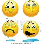 Sad Emoticons Vector Illustrations