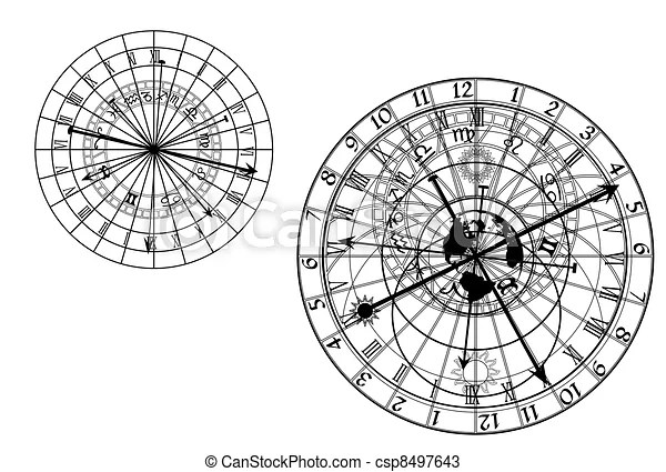 astrolabe drawing auto electrical wiring diagramvectors of astronomical clock vector